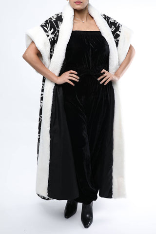 Black Bisht with Fur
