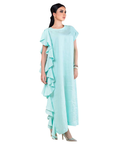 ROZE - Side Wave Dress - Maldives Blue