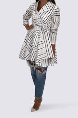 Stripes Wrap Shirt
