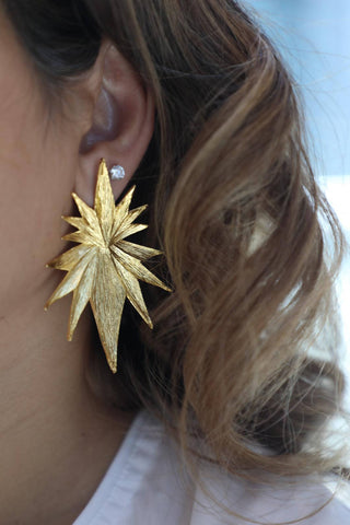 Spikes Gold Earrings