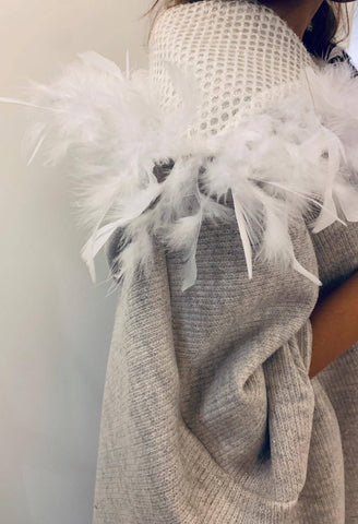 Feathers Hooded Cape