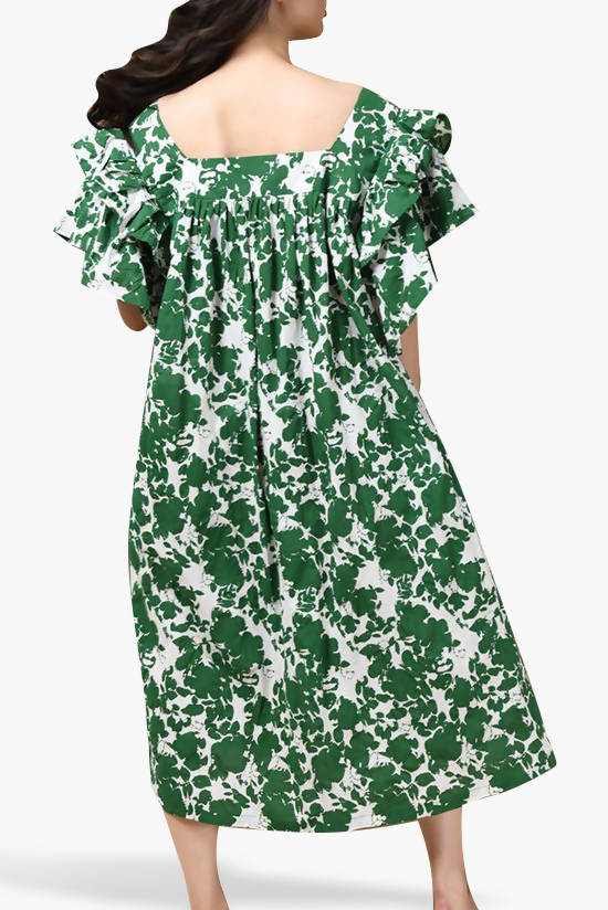 Green Printed Dress