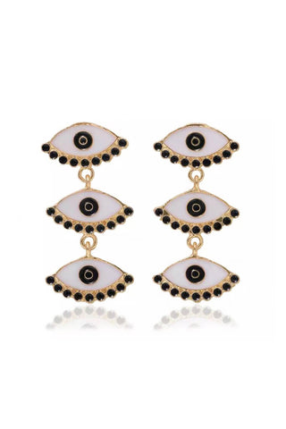 Multi Eye Drop Earrings