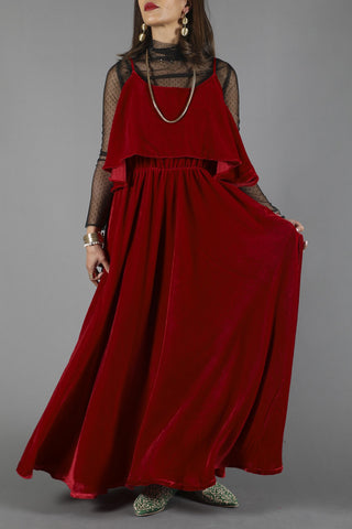 LoLo Velvet Red Dress