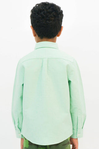 Mendoo Kids Linen Shirt - Mint
