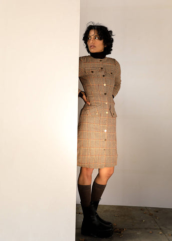 Master Beige Coat Dress