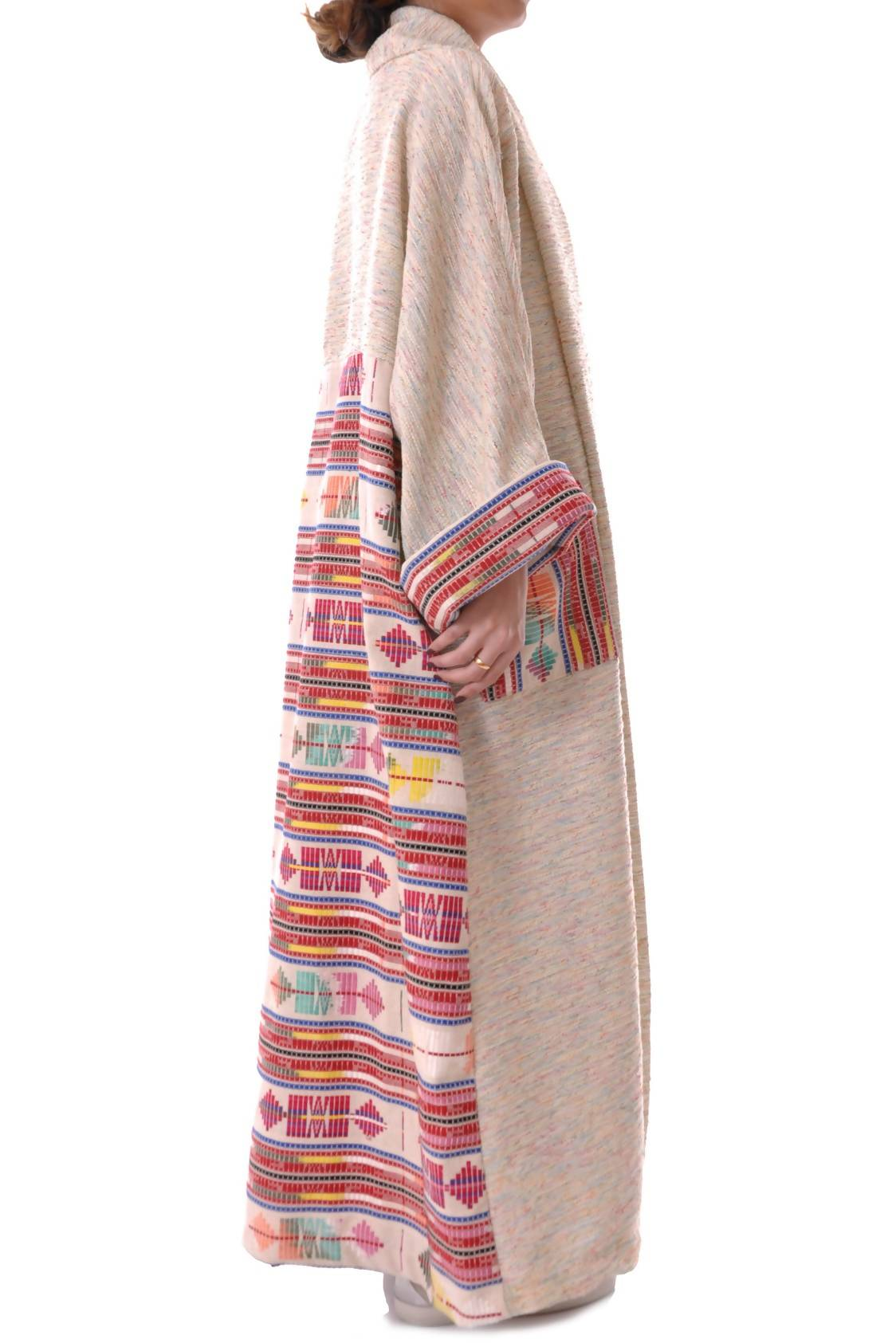 Red Sadu Tweed Bisht