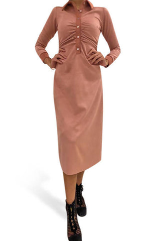Devoted Suede Pink Dress