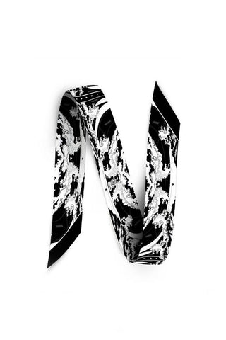 Black and White Bag Scarf