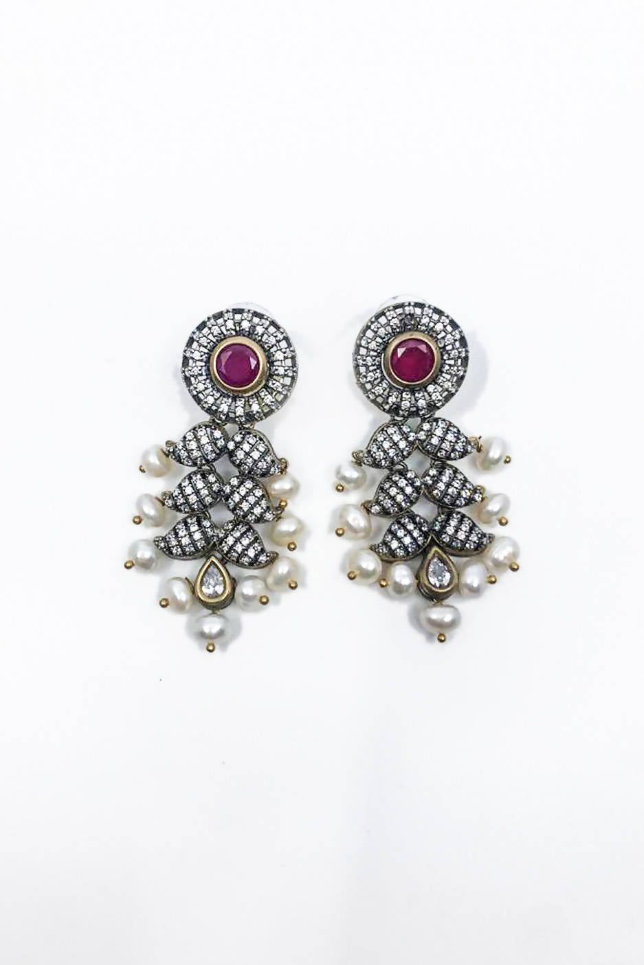 Red Embellishment Earrings