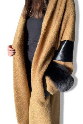 Tan Leather / Fur Bisht