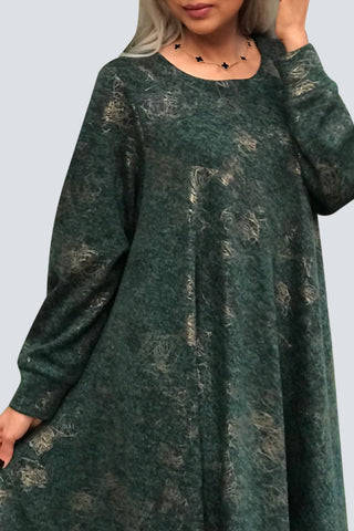 Green Winter Kaftan