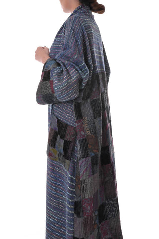 Blue Tweed Bisht