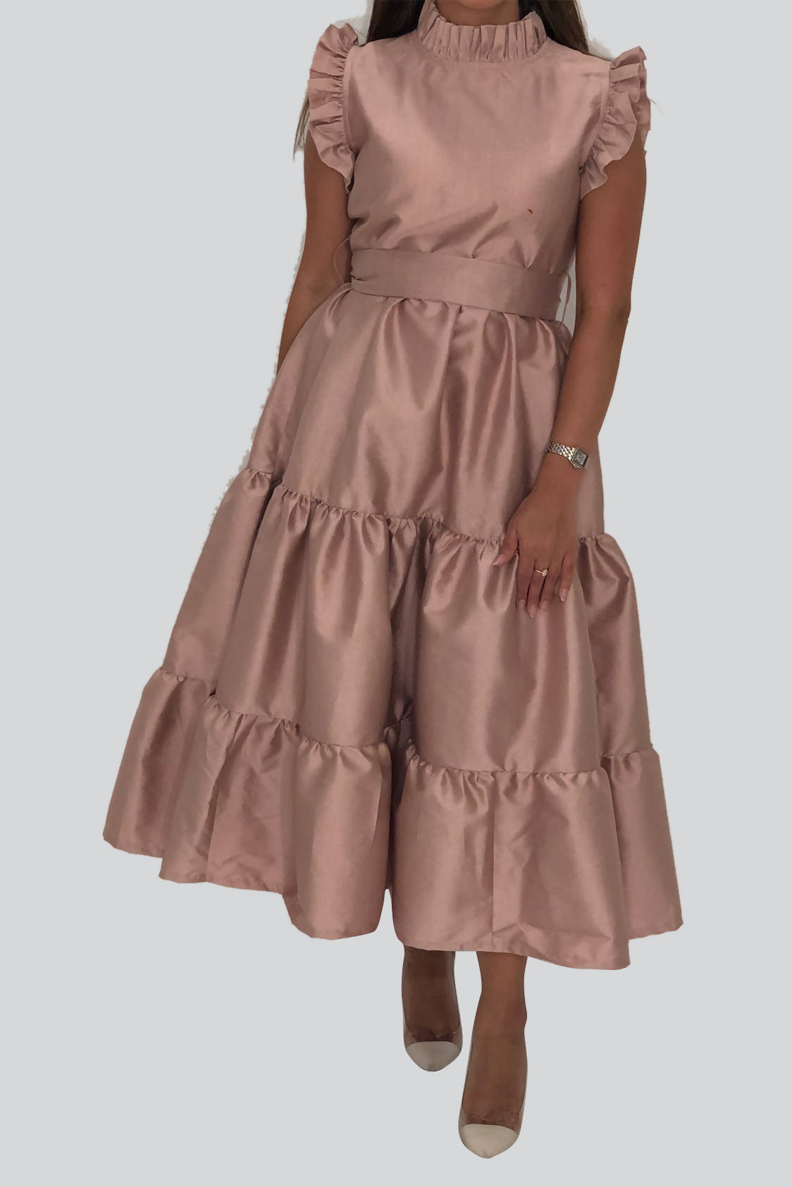 Eid Nude Puffy Dress