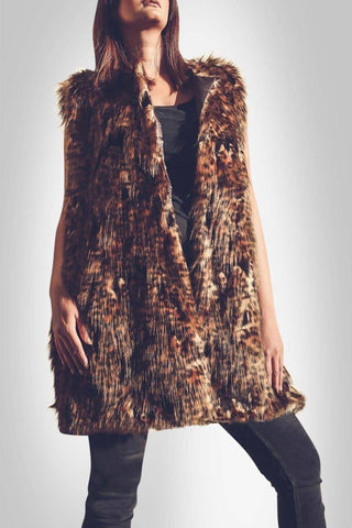 Faux Fur Brown Vest