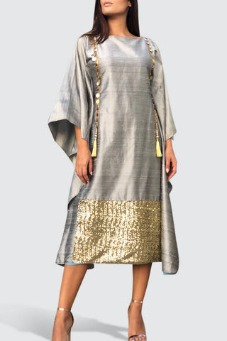 Raw Silk Kaftan