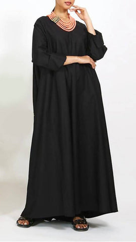 Flow Black Kaftan
