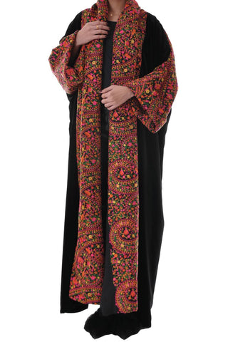 Flower Embroidery Bisht