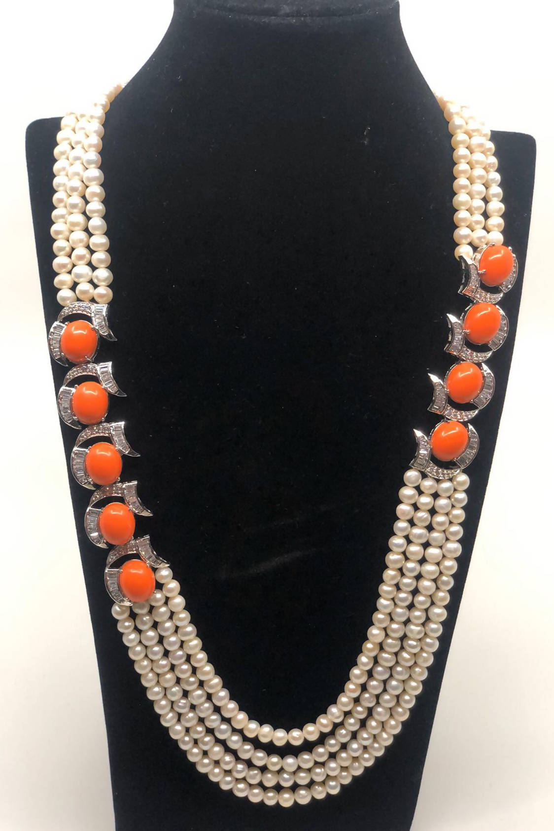 Coral Pearl Necklace