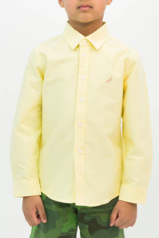 Mendoo Kids Cotton Shirt - Banana