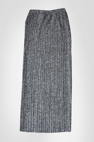 Silver Pencil Skirt -With/Without Waist Belt