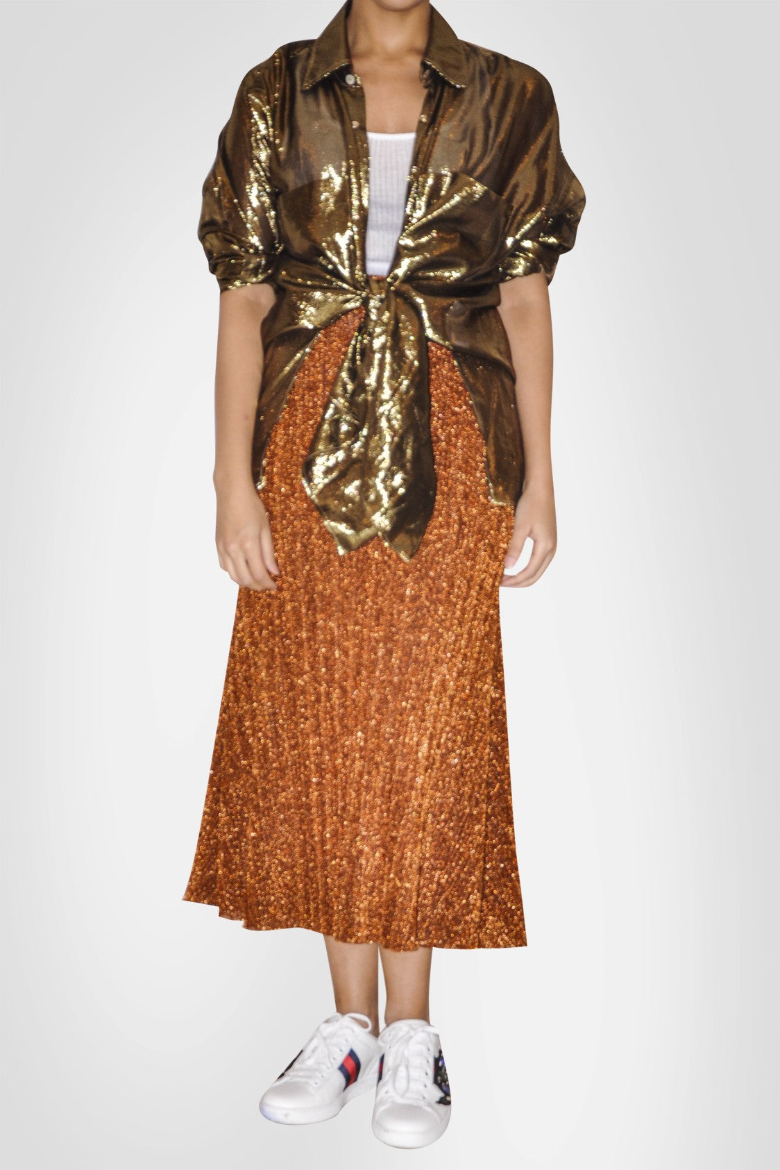 Bronze A Cut Skirt