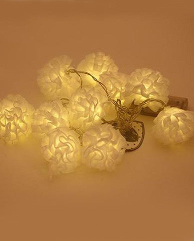 White Ruffle Twinkle Lights