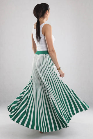 White & Green Skirt