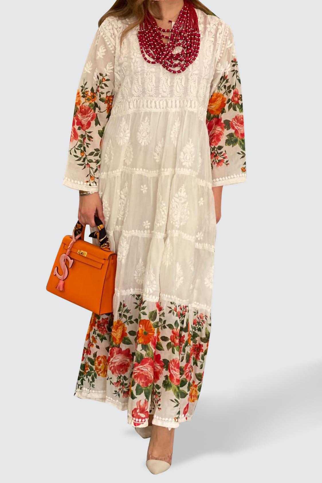 Multi Color Floral Kaftan