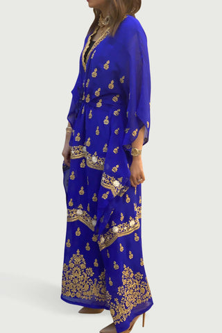 Electric Blue Thoub Kaftan
