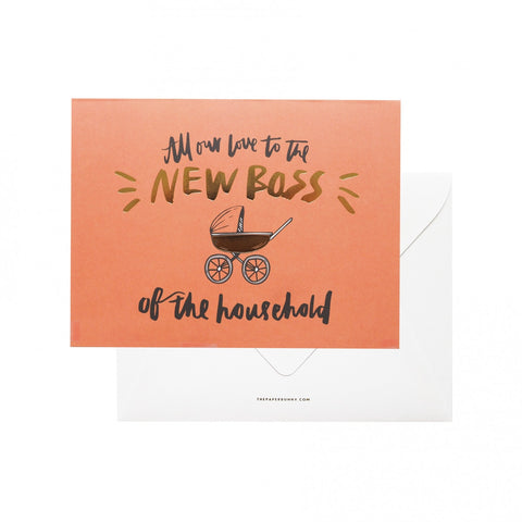 Greeting Card - New Boss