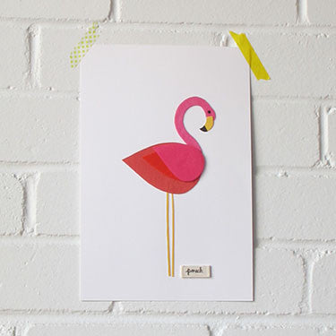 Flamingo Artwork - Medium