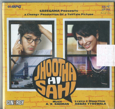 Jootha Hi Sahi Hindi Film Audio CD buy online from greenhivesaudio