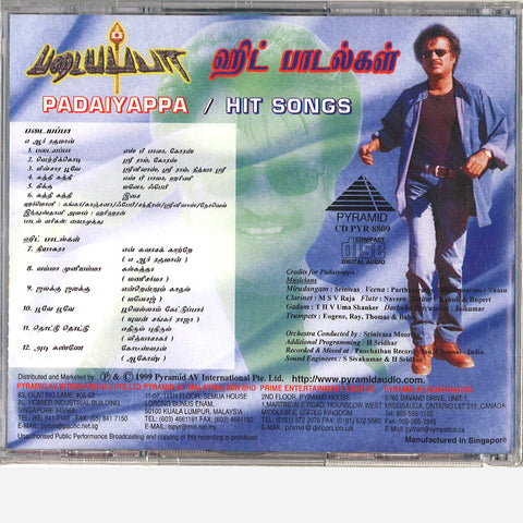 Rajini Hits (1986-2010) (59 Tamil Songs)