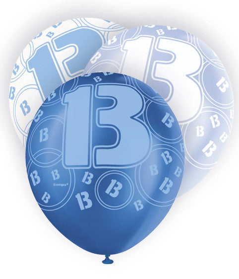 Glitz Birthday Balloons Black Blue And Pink Age 13th16th18th21st3 Partyland Occasions