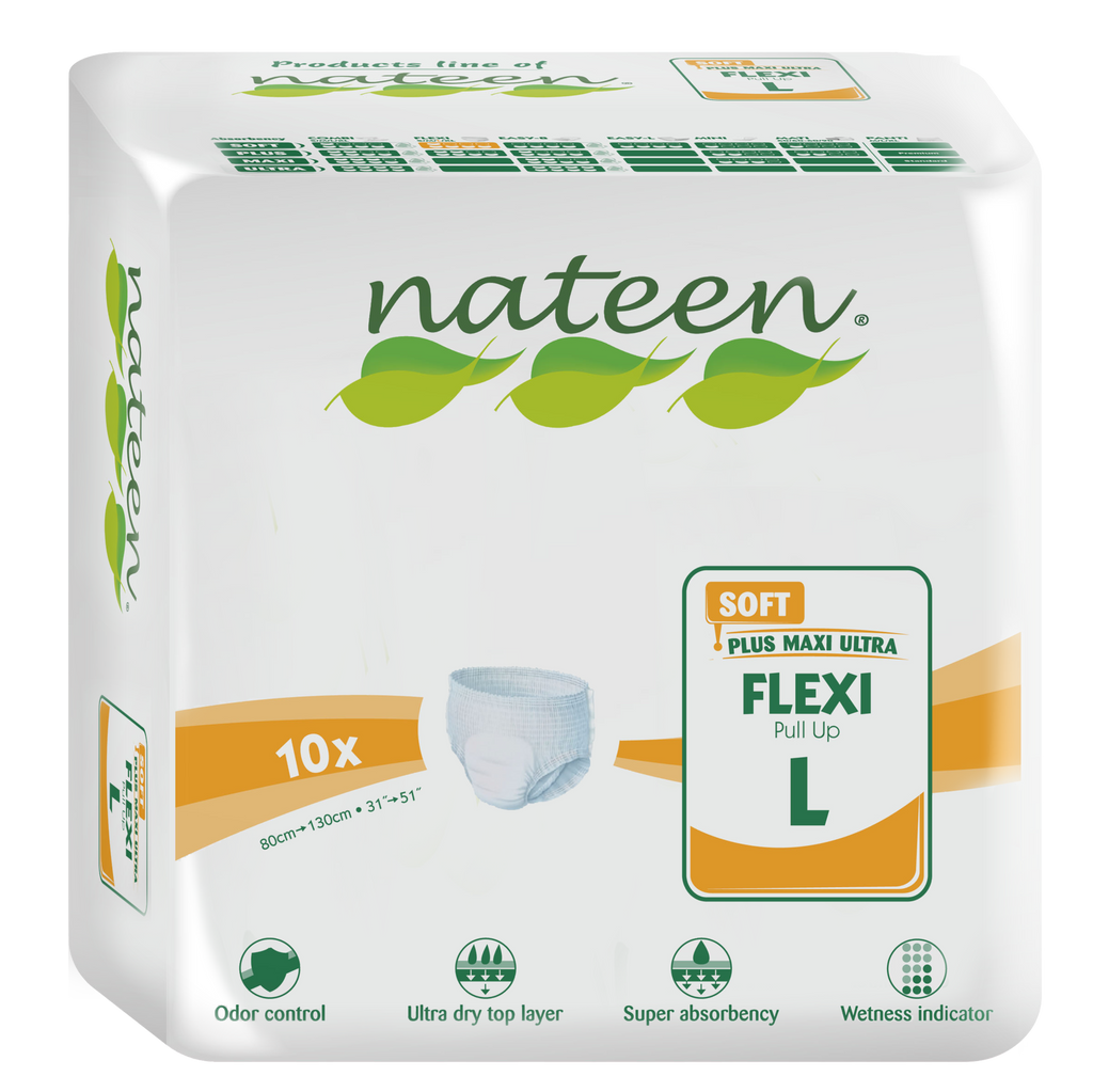PREMIUM - Nateen FLEXI SOFT Pull Up (L) >1800ml - pack of 10