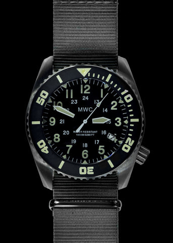 MWC 12/24 Military Divers Watch in PVD Steel Case (Quartz)