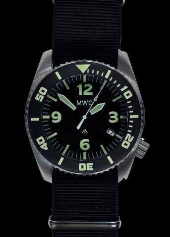 "MWC ""Depthmaster"" 100atm / 3,280ft / 1000m Water Resistant Military Divers Watch in Stainless Steel Case with GTLS and Helium Valve (Automatic)"