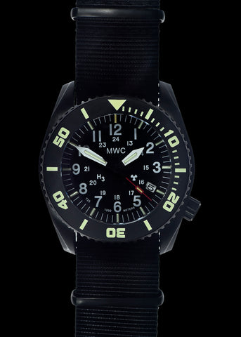 MWC 24 Jewel 1982 Pattern 300m Automatic Military Divers Watch with Sapphire Crystal on a NATO Webbing Strap - Special Contract Model