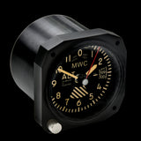 Limited Edition Replica Altimeter Instrument Desk Clock With Retro Dial in Matt Black Finish
