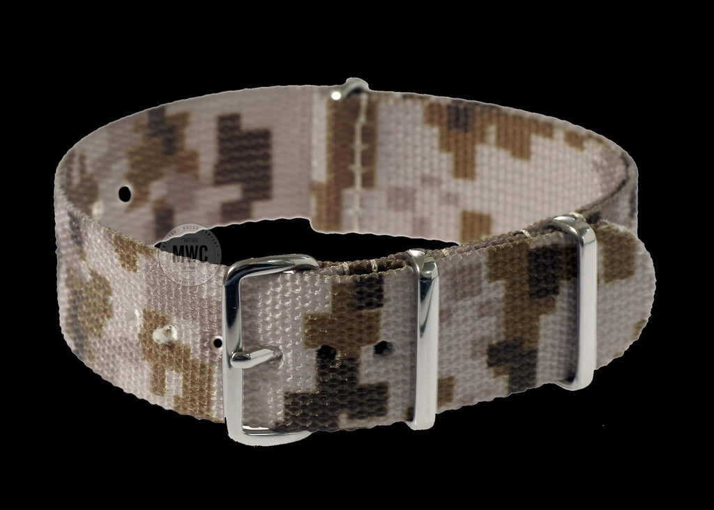 20mm US ACU Digital Camo Desert NATO Military Watch Strap