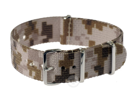 18mm US ACU Digital Camo Desert NATO Military Watch Strap