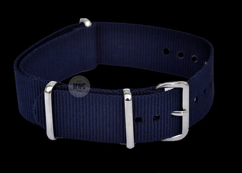 18mm Navy Blue NATO Military Watch Strap