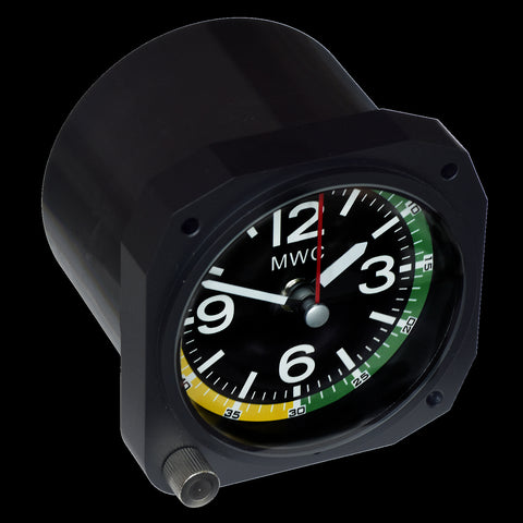 Limited Edition Replica Altimeter Instrument Desk Clock in Matt Black Finish