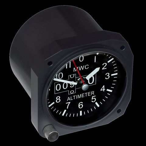 Limited Edition Replica Airspeed Indicator Cockpit / Desk Clock in Matt Black Finish