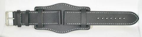 "18mm German ""Bund / Luftwaffe"" Pattern Leather Military Watch Strap"