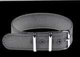 Retro Pattern 18mm Canvas Military Watch Strap in Admiralty Grey