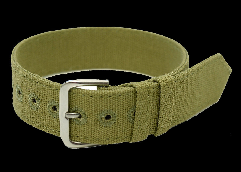 WWII Pattern 18mm Canvas Military Watch Strap