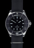 MWC 24 Jewel 1982 Pattern 300m Automatic Military Divers Watch with Sapphire Crystal on a NATO Webbing Strap