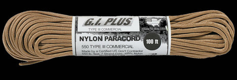 Nylon Paracord Manufactured by a certified U.S. Government Contractor